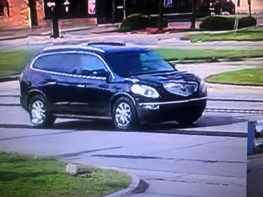 This Buick Enclave may have been involved in a hit-and-run accident that killed a Wayne County Sheriff's deputy Aug. 14 in Hines Park.