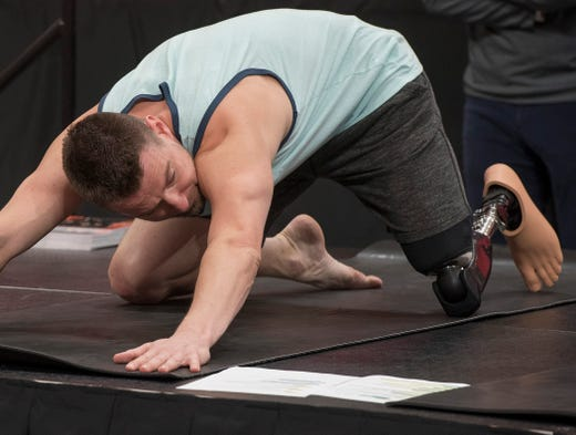 Yoga helped Zach Gowen, now in recovery from opiod addiction.