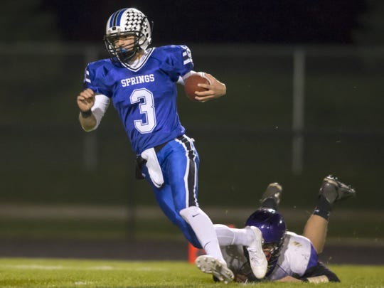 Senior quarterback Mitchell Waechter has a 105.7 passer rating for St. Mary's Springs.