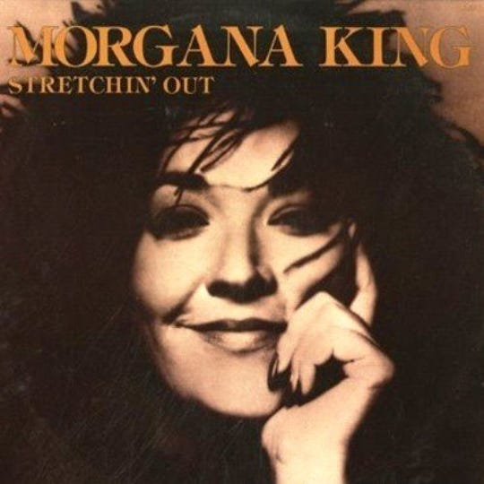 "Morgana King, seen here on her 1977 album ""Stretching Out,"" died in March but her death is just now getting media attention"
