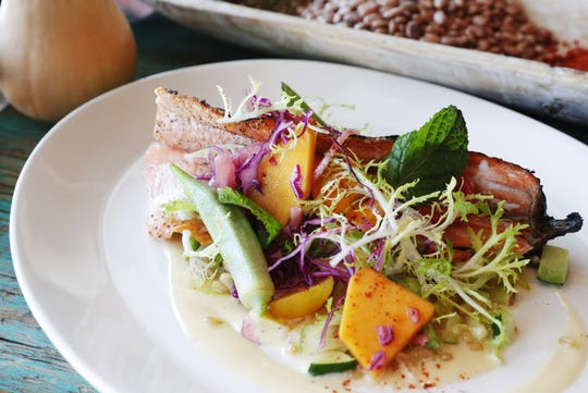 Grilled trout from Ghost Ranch in Tempe.