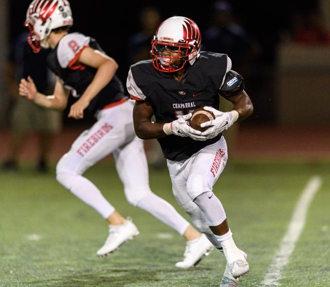 Marqui Johnson transferred from Chaparral to Saguaro prior to the 2018 school year.