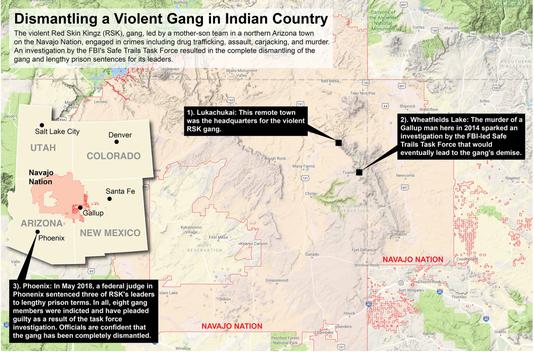 Navajo Reservation Arizona Map.Fbi Murder Led To Dismantling Of Violent Gang On Navajo Nation