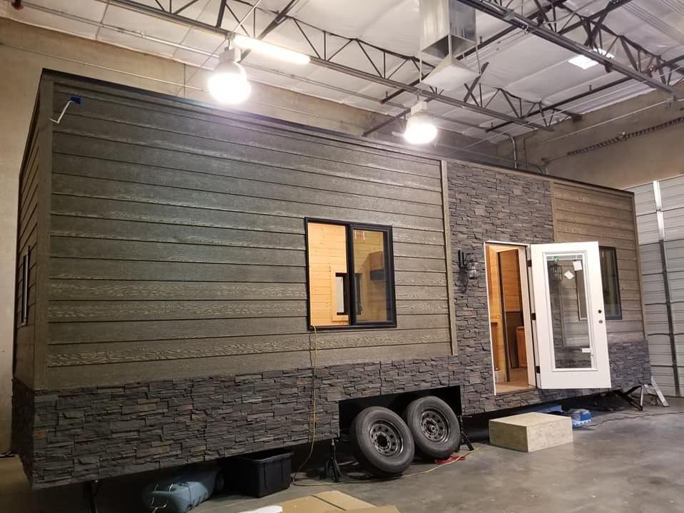 A view of what a tiny home looks like from the outside.