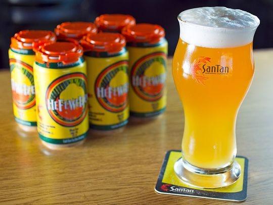 El Hefeweizen en SanTan Brewing Company en Chandler.