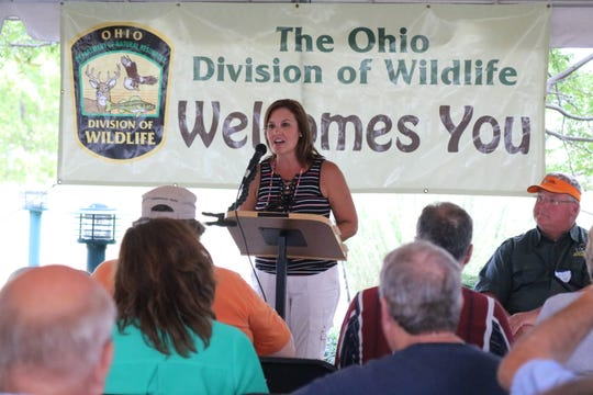 Lt. Governor Mary Taylor said she caught around a half a dozen fish during her trip out on Lake Erie for the Governor's Fish Ohio Day.