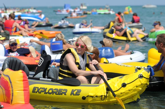 Floaters start their journey toward the St. Clair River DURING THE 2015 Float Down.
