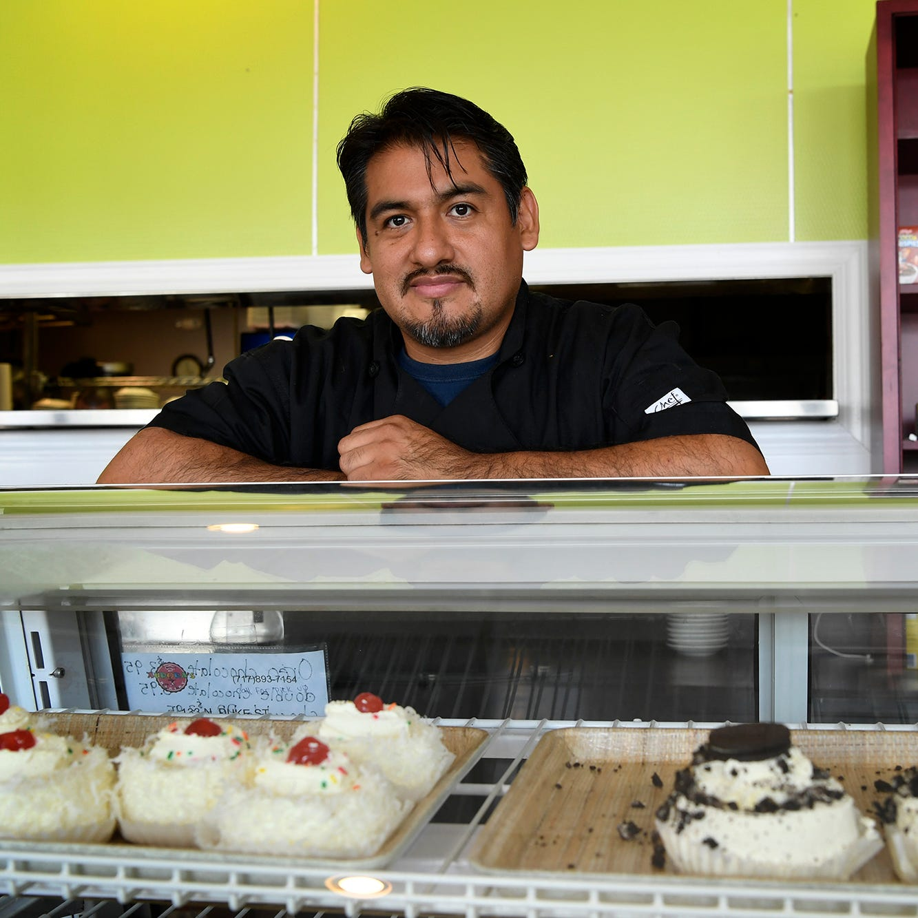 A promise made to his mother when leaving Mexico fulfilled, Anselmo Arrieta recently opened Aurora's Bakery at 133 N. Duke Street. Thursday, August 15, 2018.  John A. Pavoncello photo