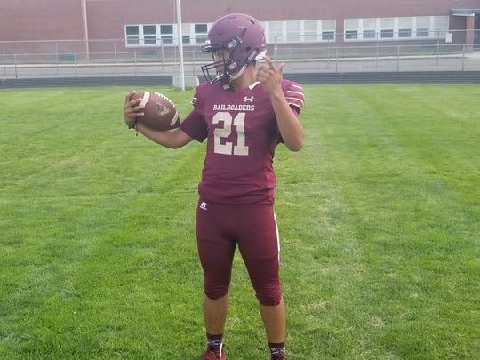 The new Sparks High football uniform