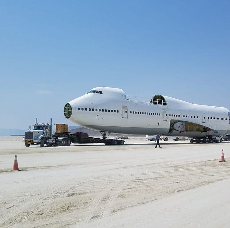 Burning Man 2018: 747 airplane fuselage arrives, will be largest-ever 'art car'