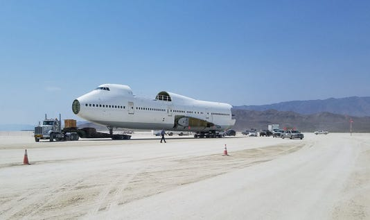 747 On Playa Burning Man