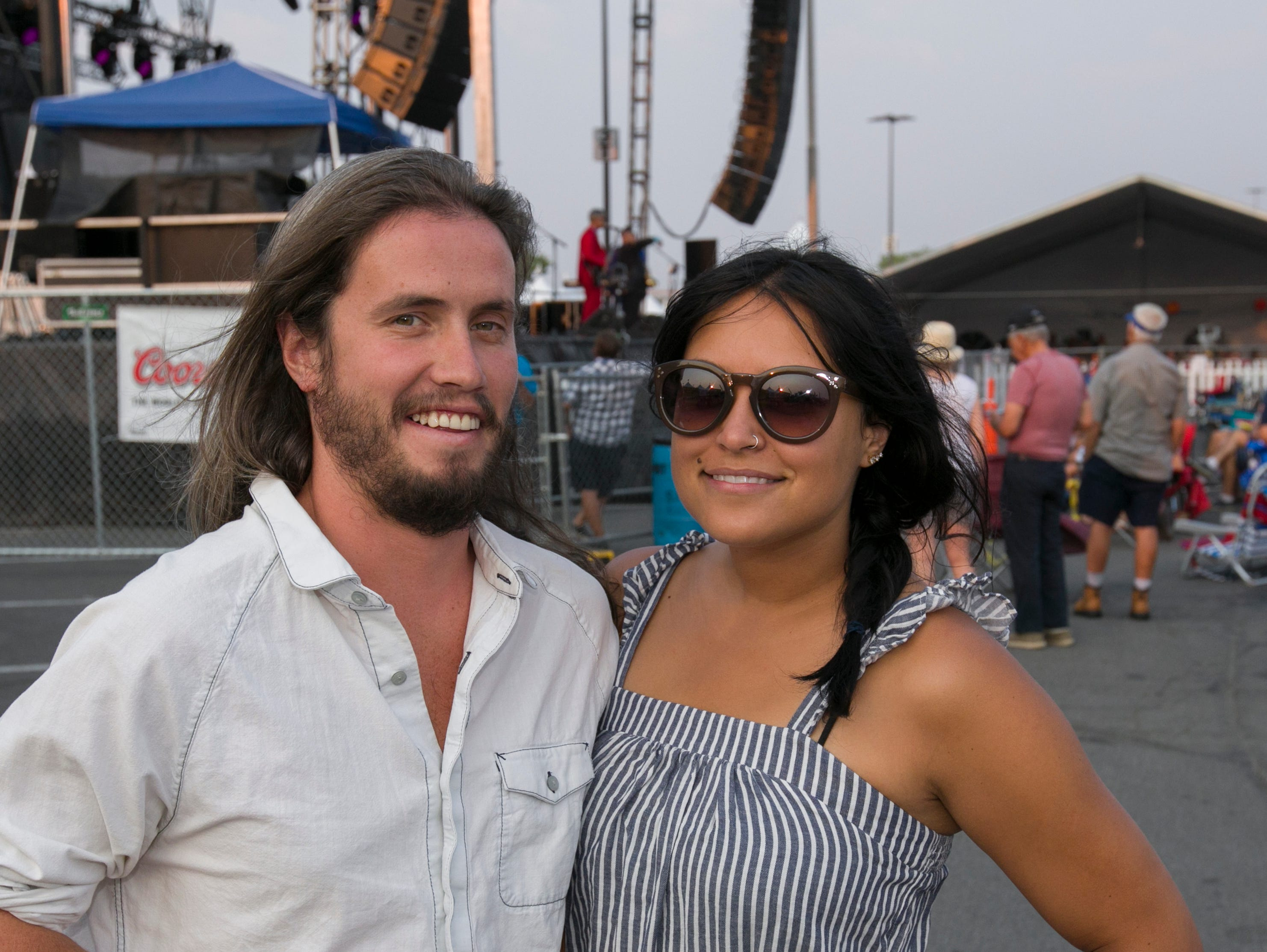 Collin and Alissin during the Hot August Nights Eddie Money concert at the Grand Sierra Resort in Reno on Thursday, August 9, 2018.
