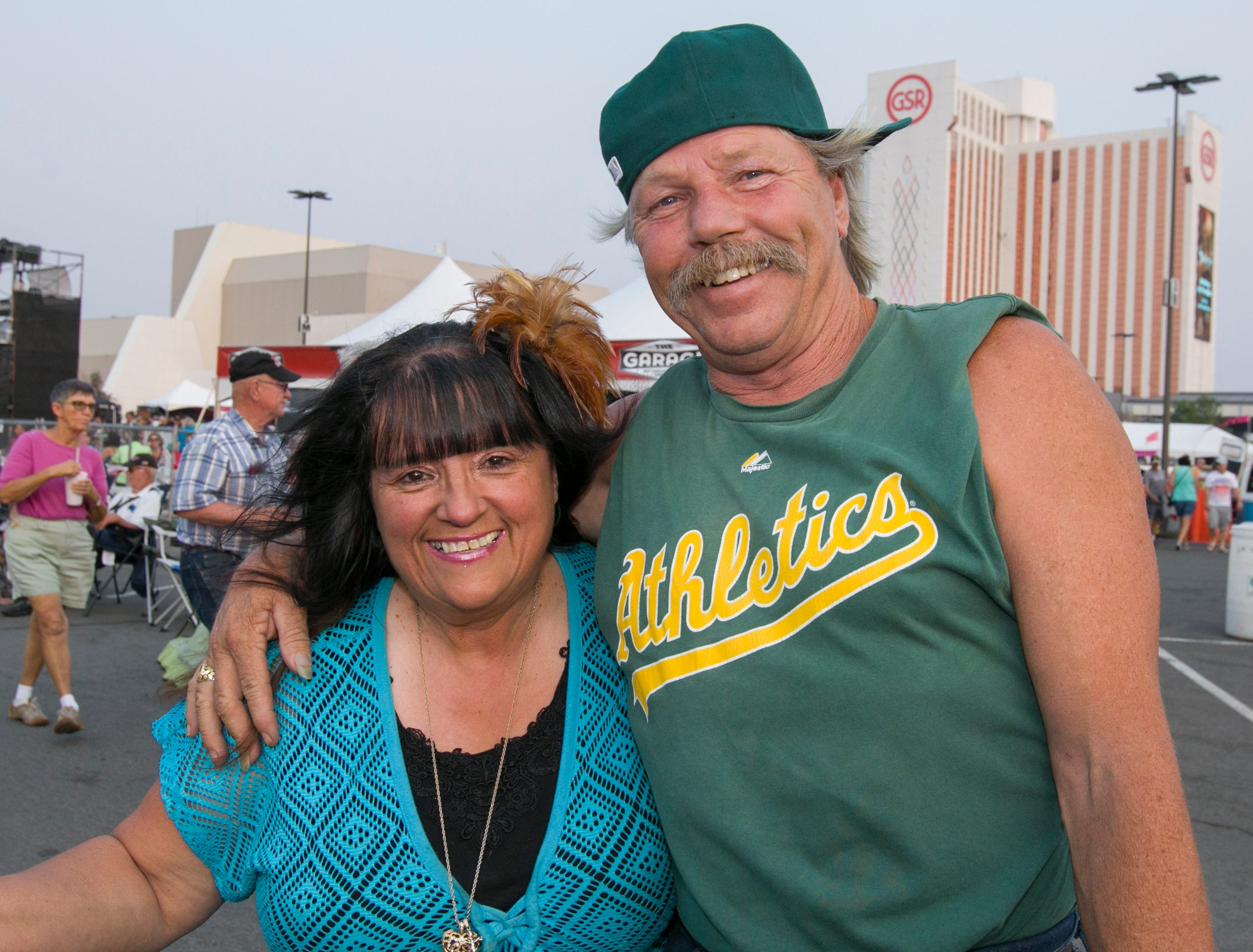 Evelyn Carte and Dave Deans during the Hot August Nights Eddie Money concert at the Grand Sierra Resort in Reno on Thursday, August 9, 2018.