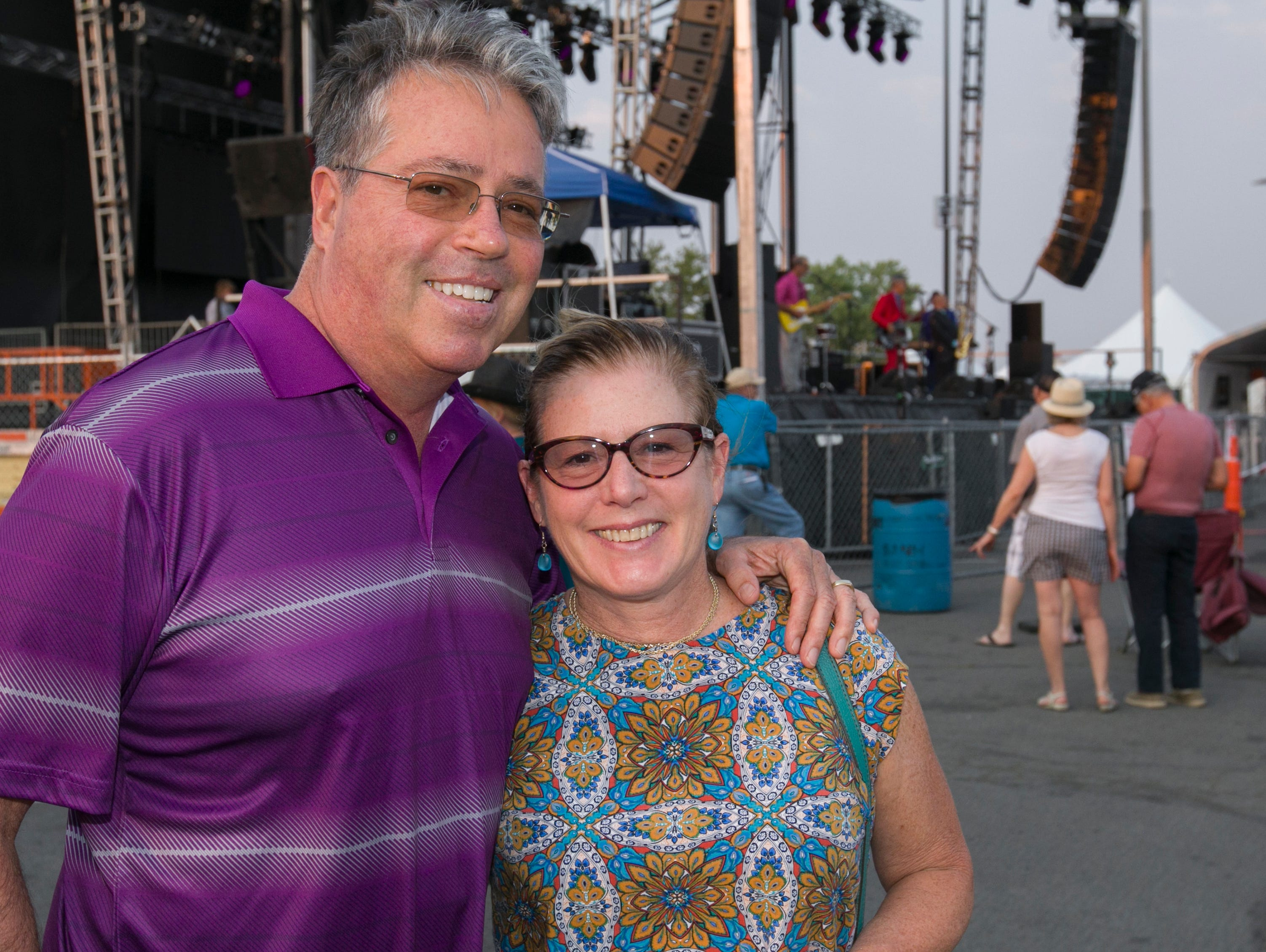Tim and Jody Burke during the Hot August Nights Eddie Money concert at the Grand Sierra Resort in Reno on Thursday, August 9, 2018.