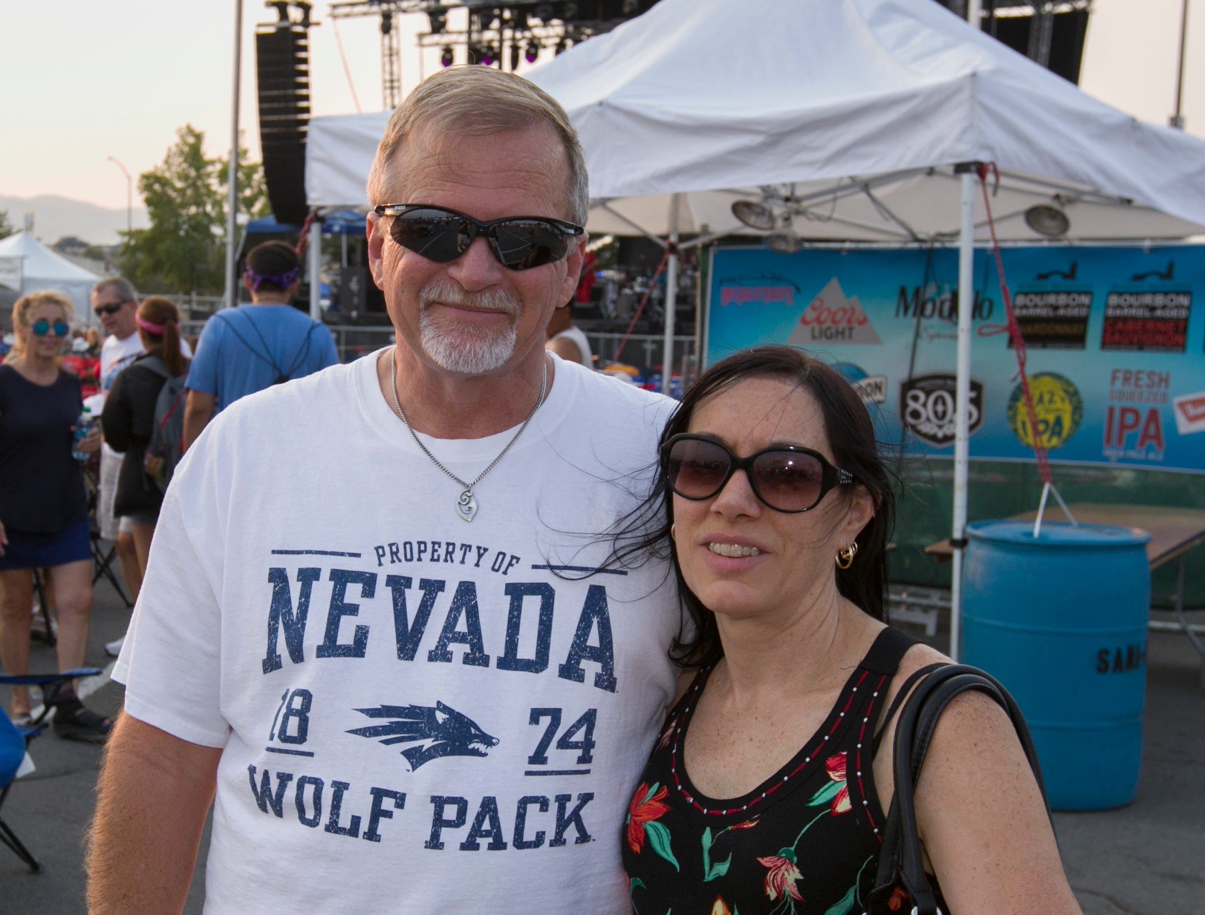David and Kathy Poore during the Hot August Nights Eddie Money concert at the Grand Sierra Resort in Reno on Thursday, August 9, 2018.