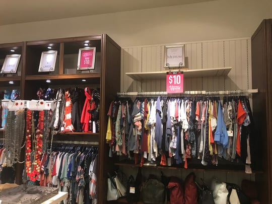 Charming Charlie has a $10 clearance sale on clothing.
