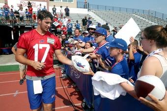 Who's the Bills starting QB? Still no definite answer. Sal Maiorana has some camp takeaways.