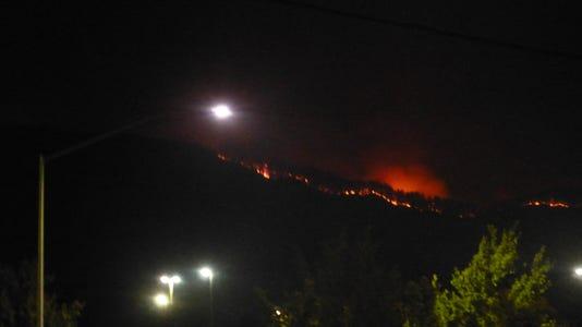 Evening Carr Fire