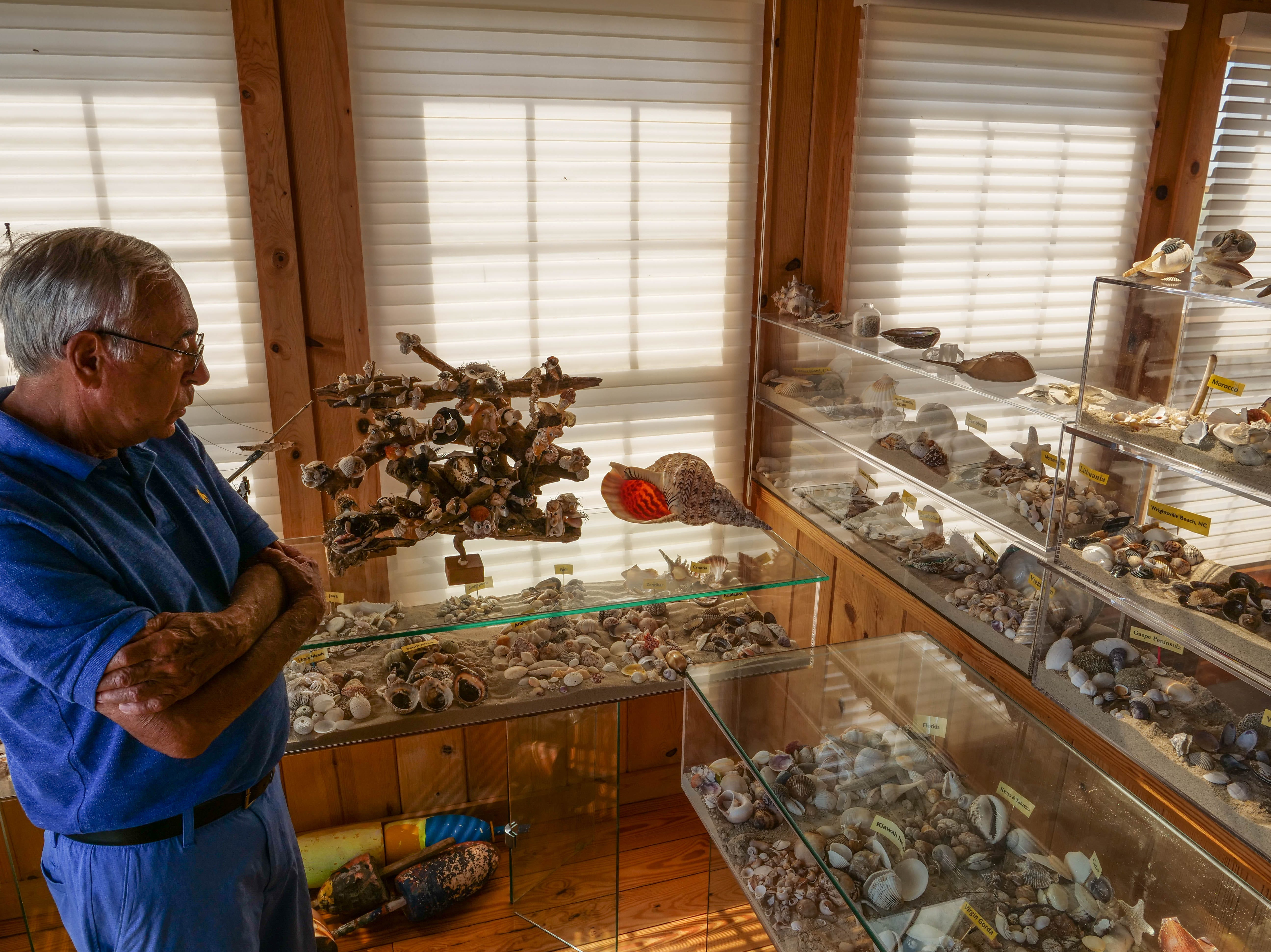 Larry Mann said he has collected over one million seashells in his life.
