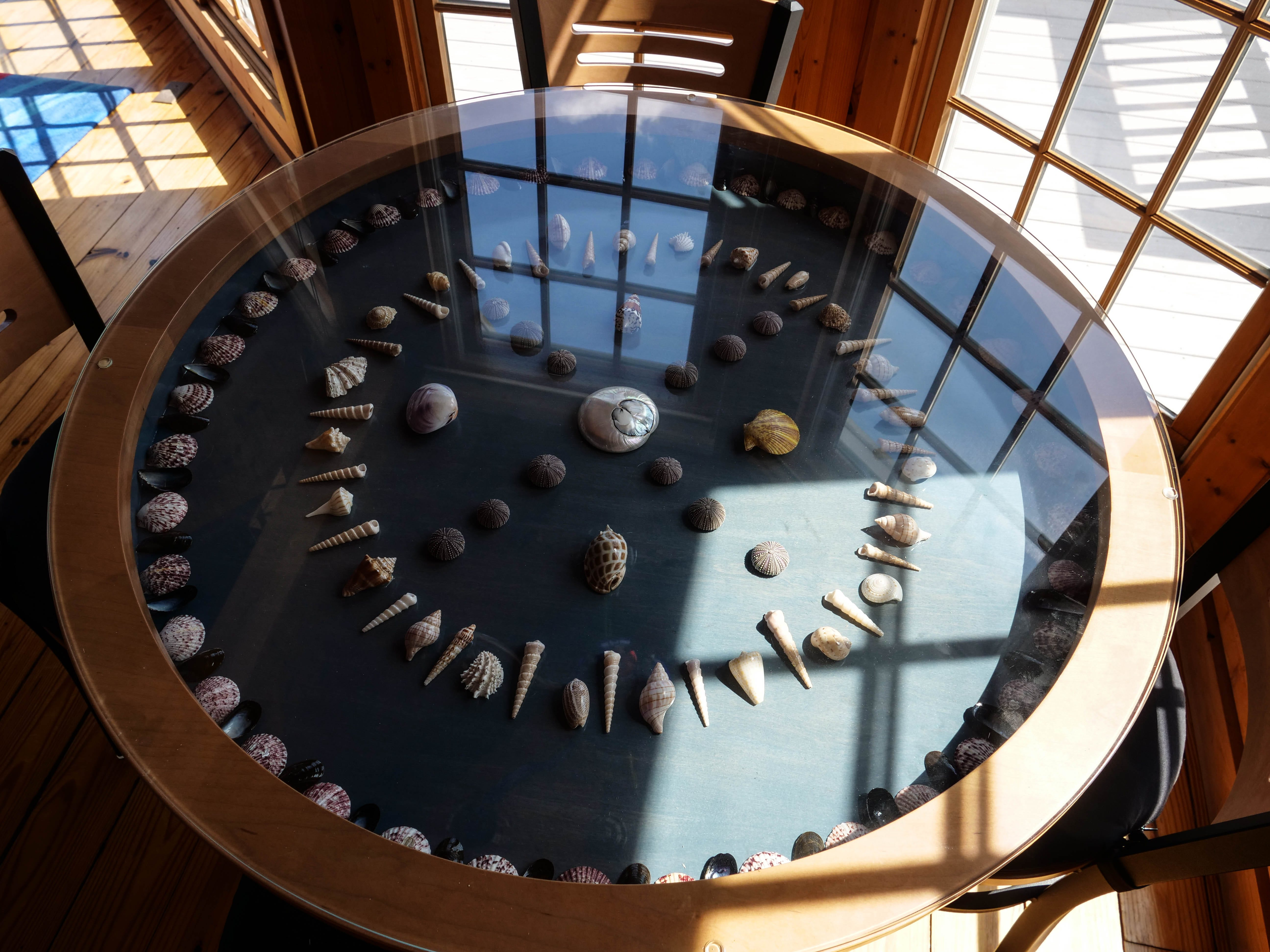 Seashells can be found on almost every square foot of Larry Mann's Rehoboth Beach residence.