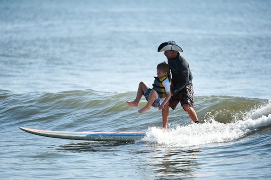 Surfers Healing returns to Ocean City for the 9th year to enrich the lives of people living with autism by exposing them to surfing on Wed., August 15, 2018.