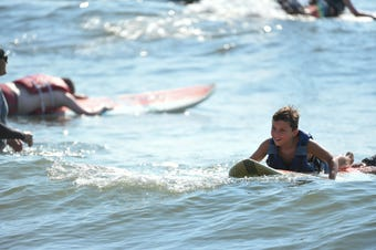 For the 9th annual year, Surfers Healing camp in Ocean City gave kids with autism the chance to surf alongside professionals.