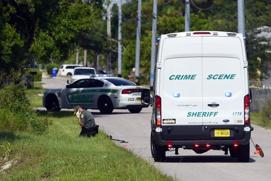 Indian River County Sheriff's Office crime scene investigators work the scene of a shooting that occurred in the 2800 block of 43rd Street in Gifford on Wednesday. Aug. 15, 2018. A man was transported to the Indian River Medical Center with gunshot wounds where he died of his injuries. About an hour after the shooting, a suspect was taken into custody and being interviewed by detectives.