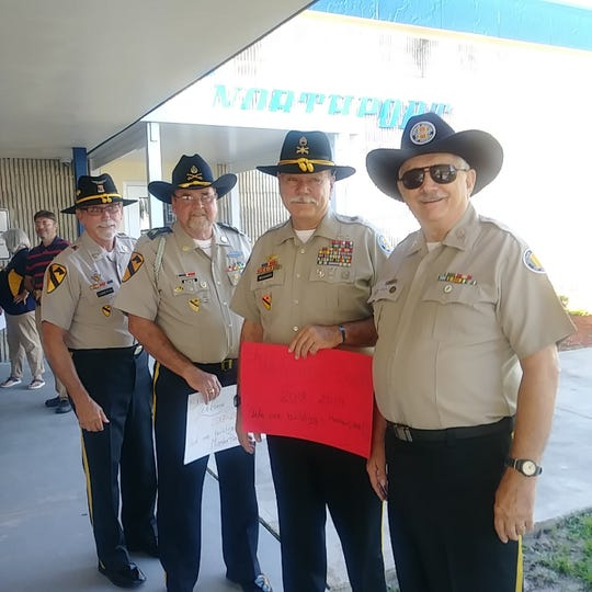 Vietnam Veterans, Chapter 566 welcomed Northport students with handshakes and high fives.