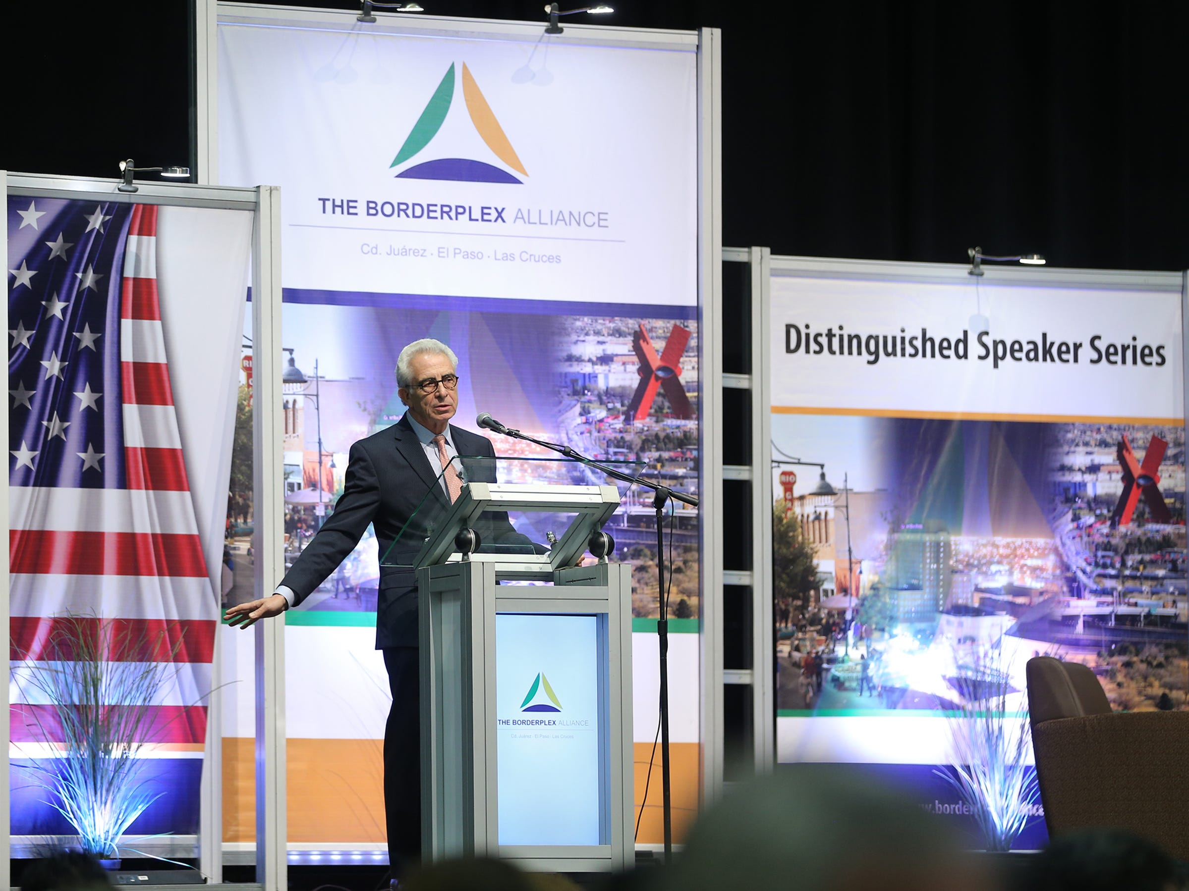 Former Mexican President Ernesto Zedillo served as the keynote speaker at the U.S.-Mexico Border Summit Wednesday at the Judson F. Williams Convention Center.