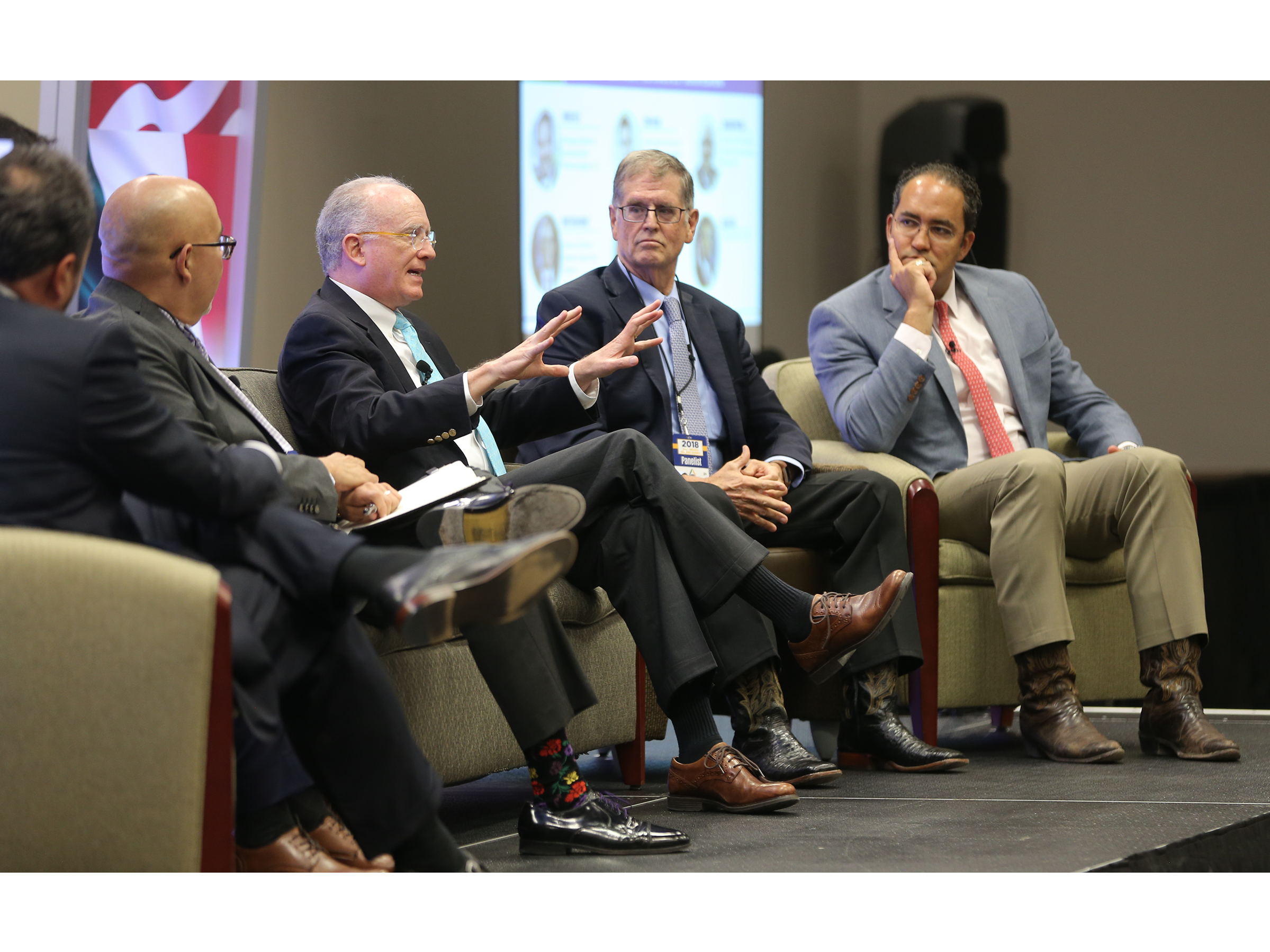 Matthew Rooney discusses NAFTA at the U.S.-Mexico Border Summit Wednesday.