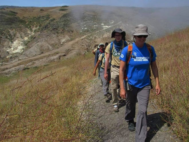 Through the SAMO Youth employment and mentoring program, interns worked to clear trails and restore native plants. That sometimes meant hiking to remote locations in the Santa Monica Mountains.