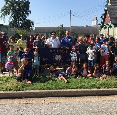 Millville Elks donate backpacks to Millville children