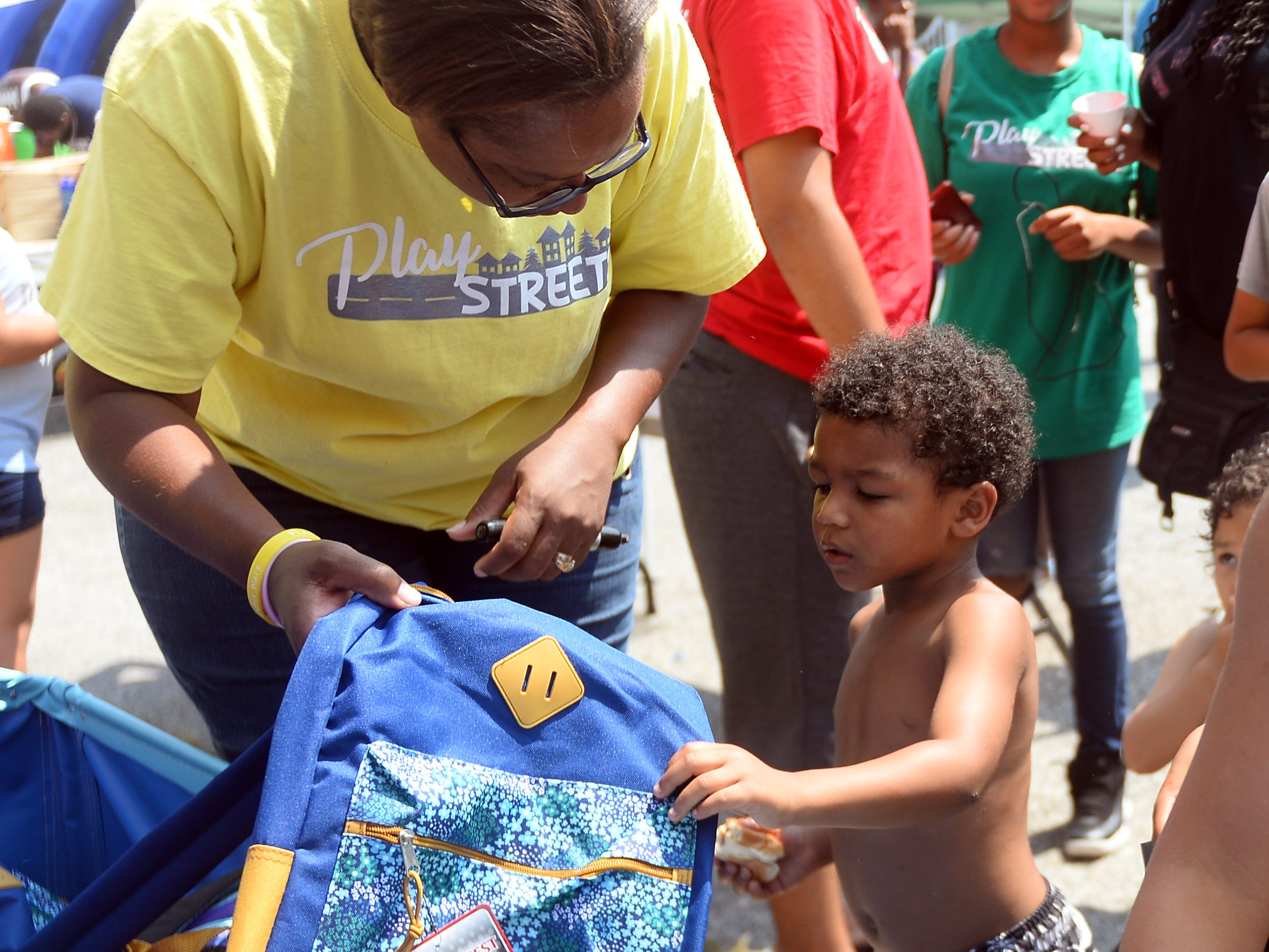 Kids enjoy one last Play Streets event  in Millville on Wednesday, August 15.