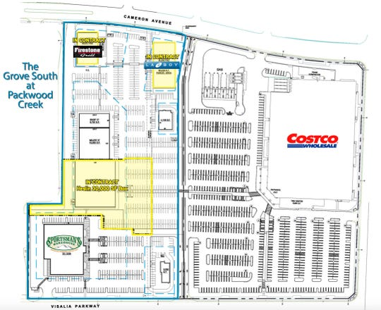 Visalia shopping center is about to expand directly across from Costco.