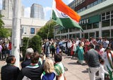 The Indian Cultural Association of North America sponsored a flag raising celebration as part of their Independence Day celebration in White Plains.