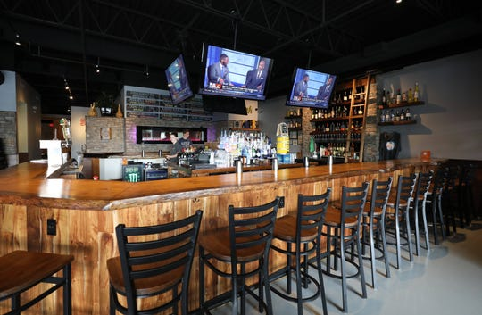 The bar area at Norcina Restaurant at 186 North Main Street in New City, Aug. 15, 2018.