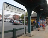 Rockland County Executive Ed Day and Rockland officials complain how bad NJ Transit is for Rockland riders at Pearl River Train Station Aug.15, 2018.