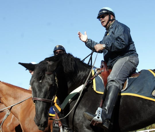 Rockland County Sheriff James Kralik during an Oct. 5, 2006, training session for officers and their mounts in Ramapo.