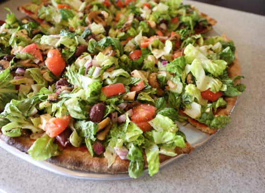 The Maddalena Salad Pizza at Rocco's at 170 South Main Street in New City.