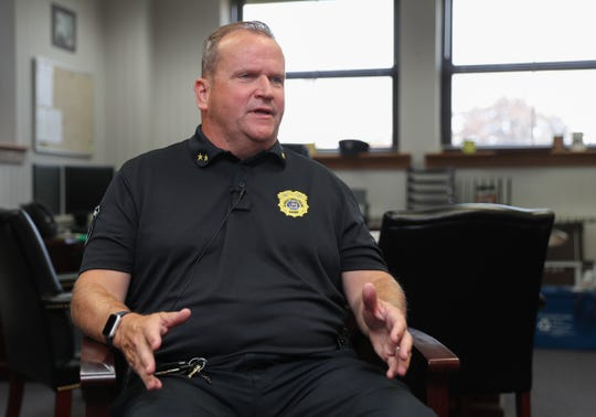 Clarkstown Police Chief Ray McCullagh discusses security concerns at local shopping malls from his office at Clarkstown Police Headquarters in New City on Wednesday, August 15, 2018.
