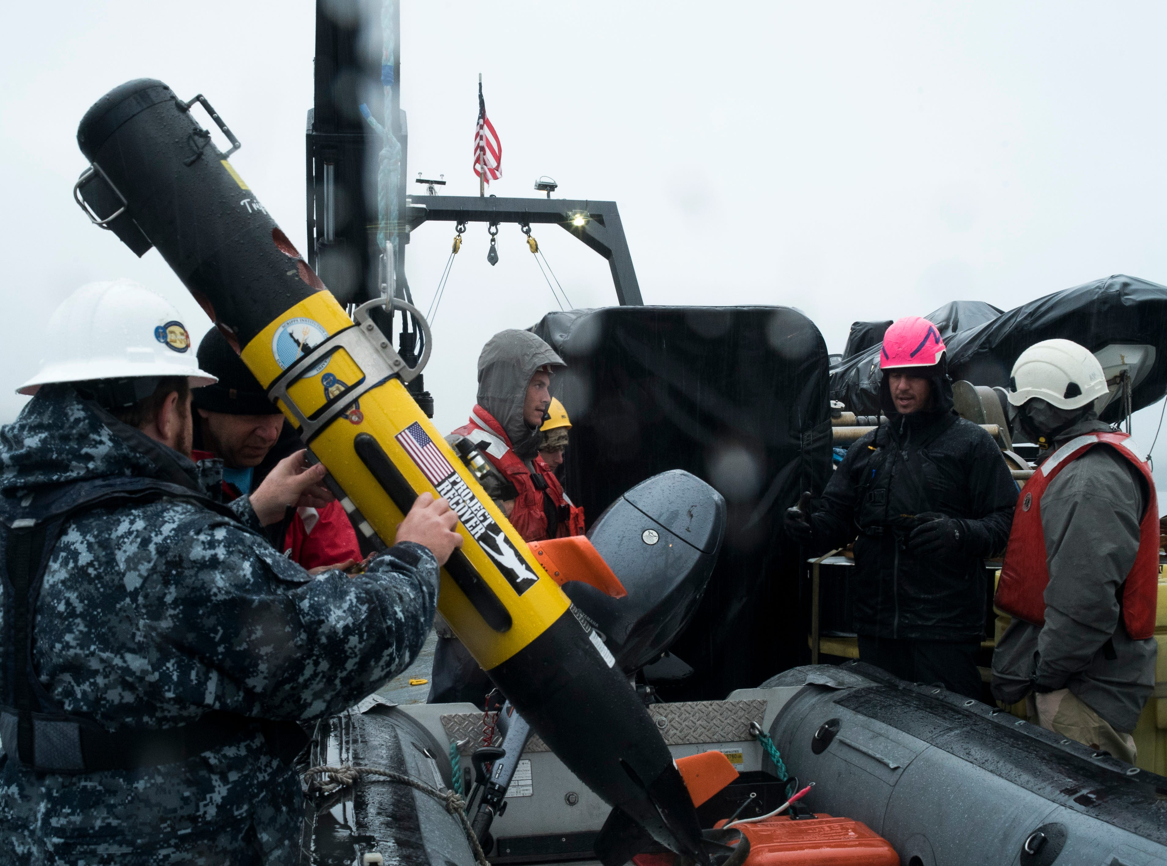 An underwater robot was used to confirm the find of the lost stern of the USS Abner Read at the bottom of the Bering Sea.