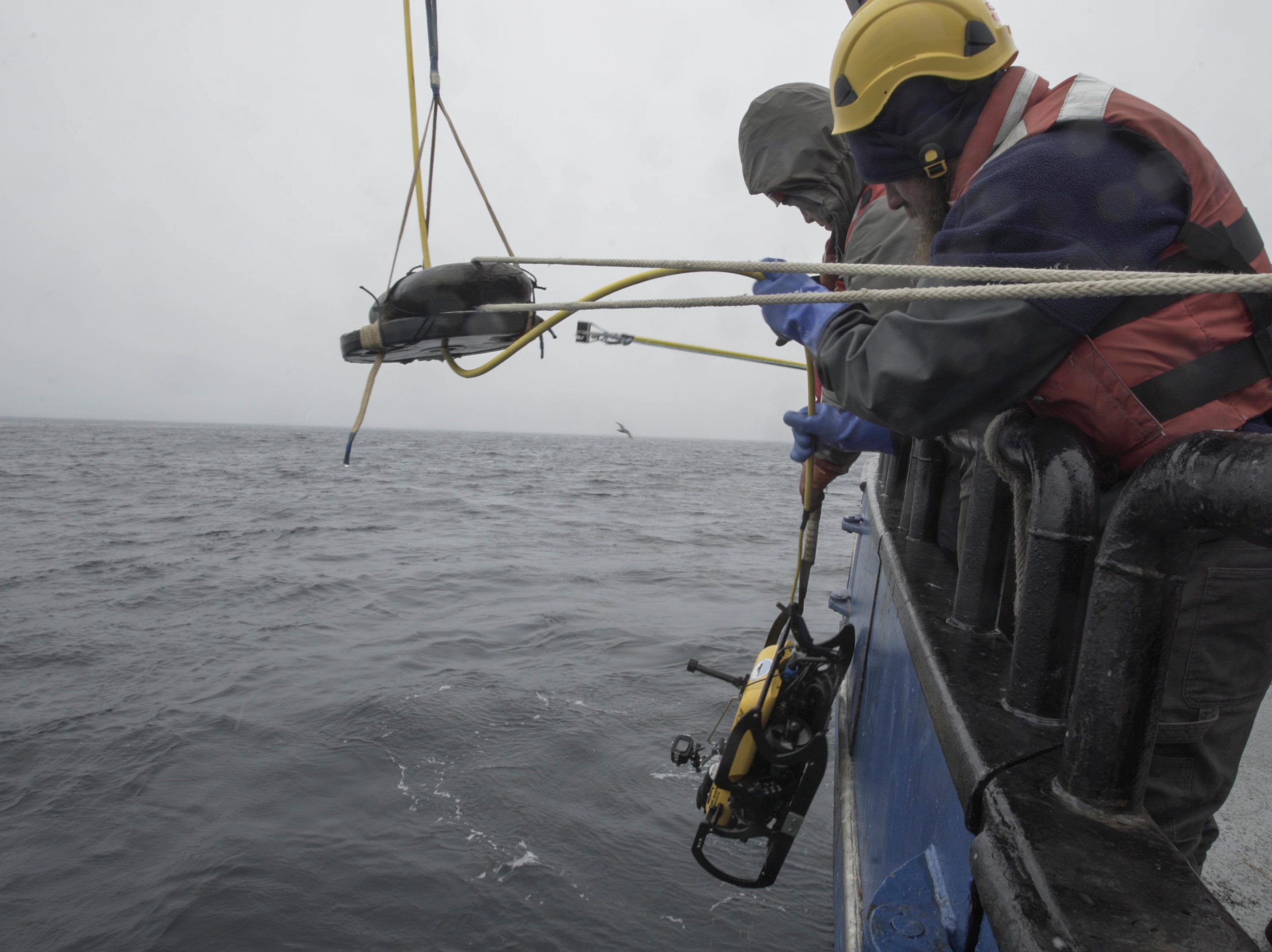 An underwater robot was used to confirm the find of the stern of the USS Abner Read at the bottom of the Bering Sea.