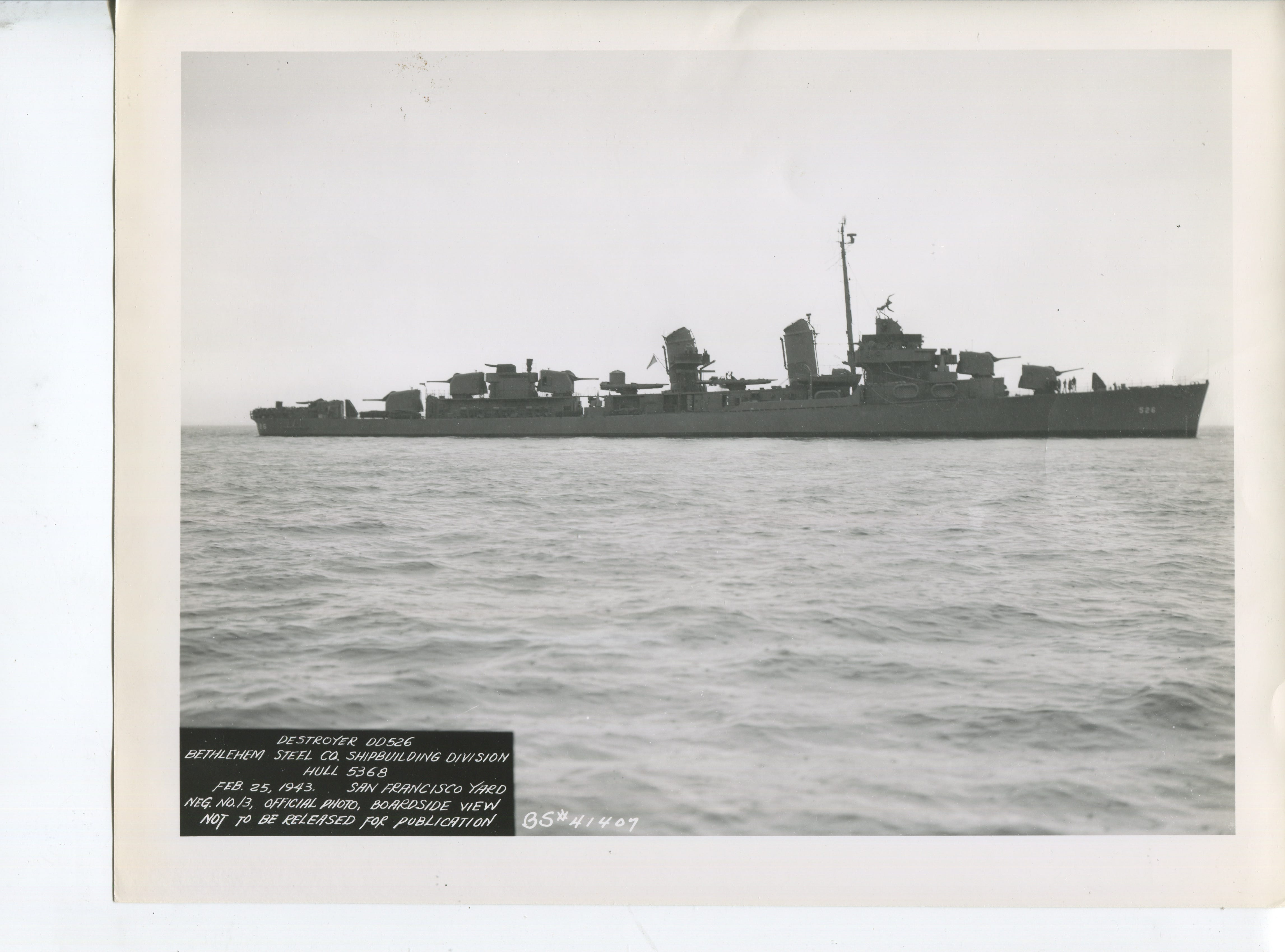 This historical photo shows the USS Abner Read at sea.