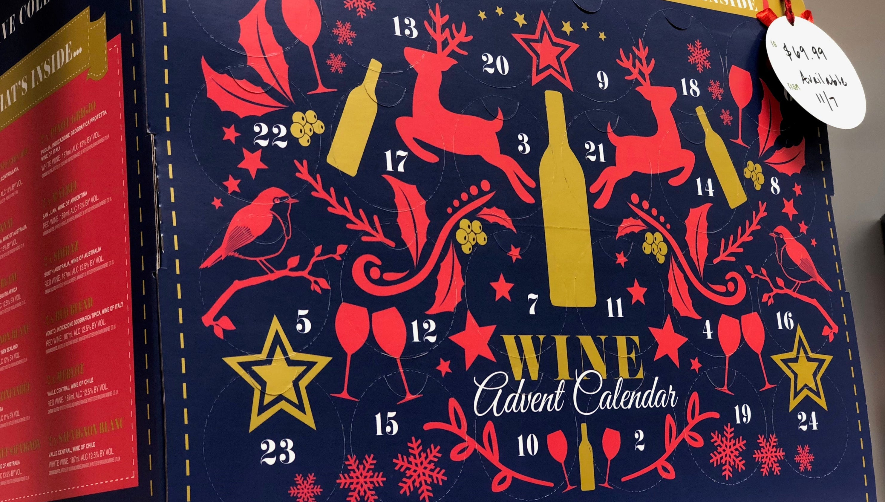 holiday shopping aldi will release a wine advent calendar. Black Bedroom Furniture Sets. Home Design Ideas