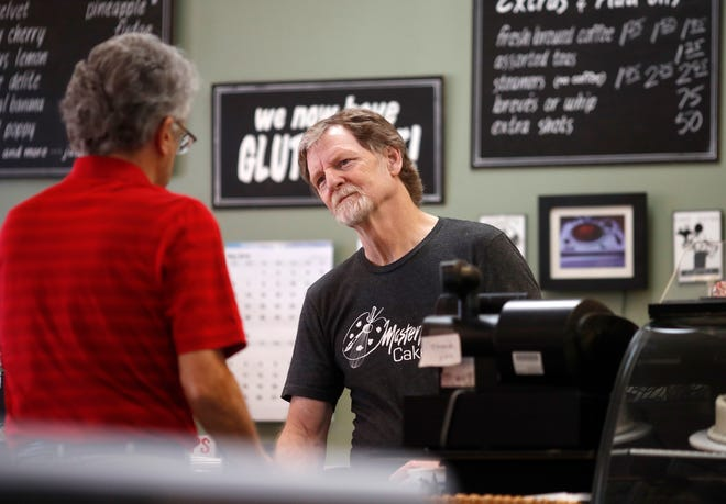 Baker Jack Phillips in his Masterpiece Cakeshop on June 4, 2018, in Lakewood, Colo.
