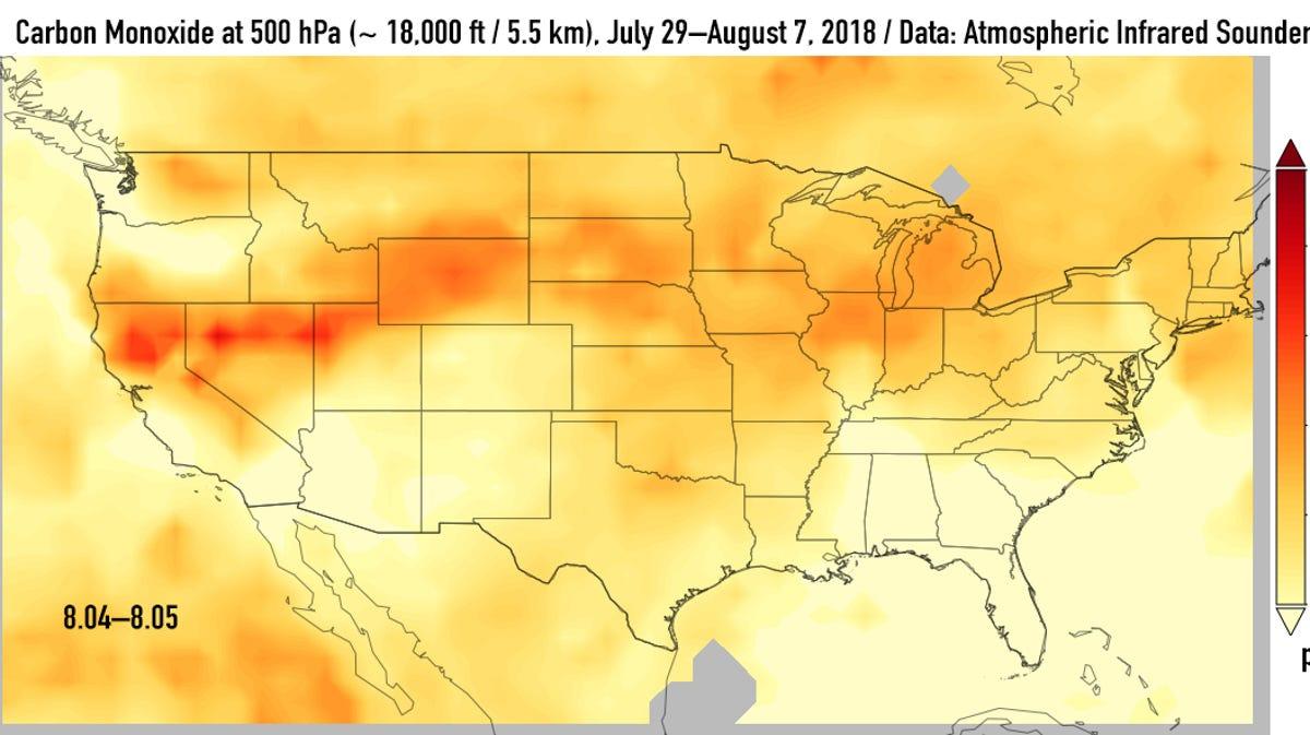 california wildfire smoke darkens the sky in northern michigan california wildfire smoke darkens the