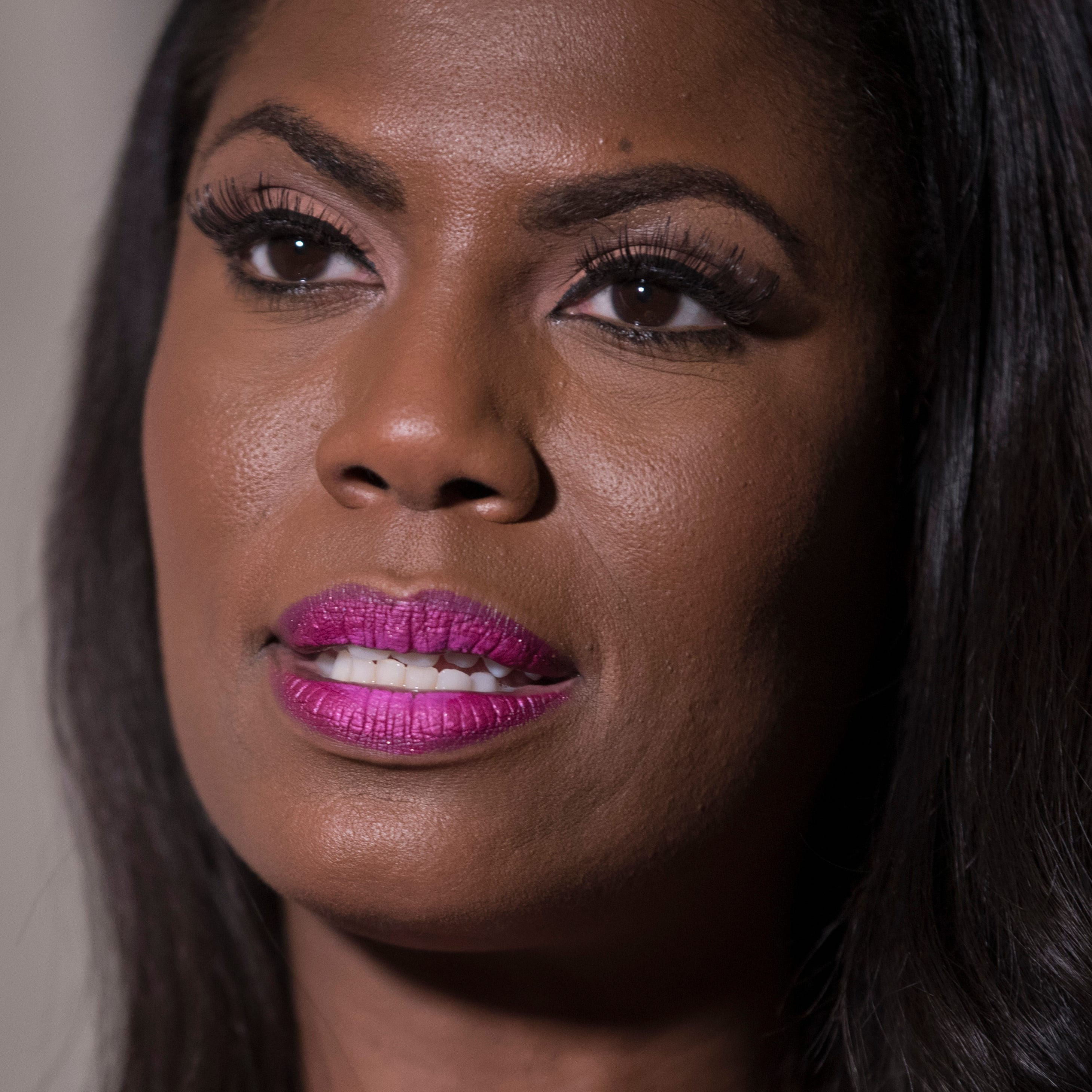 Omarosa Manigault Newman during an interview with The Associated Press, Aug. 14, 2018, in New York.