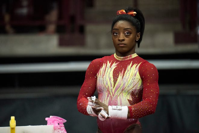 U.S. gymnast Simone Biles is not happy with the new USA Gymnastics CEO.