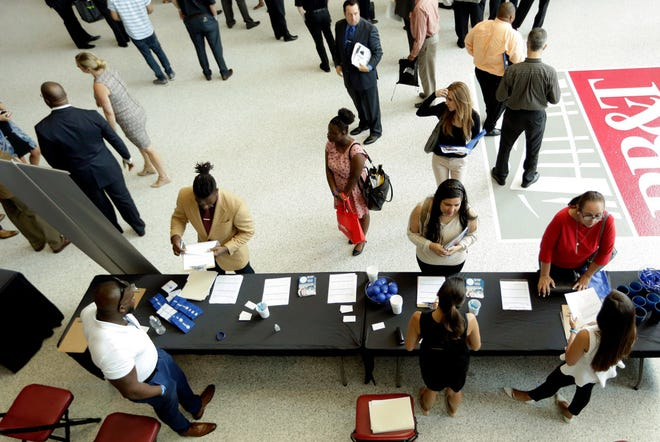 A job fair in Sunrise, Florida, on June 21, 2018.