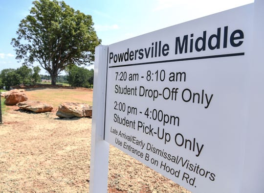 A new road to enter the backside of Powdersville Middle School off Roe Road recently opened in Powdersville, with officials expecting it to help with better traffic flow.